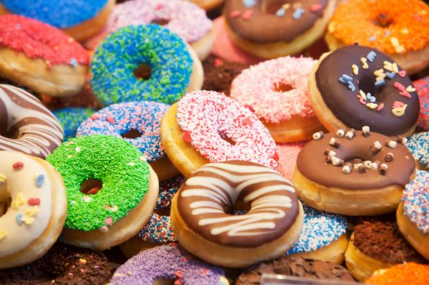 Colourful doughnuts