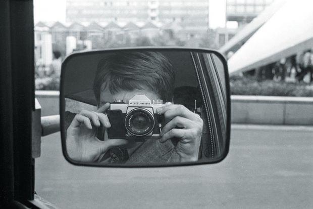 Camera in car mirror