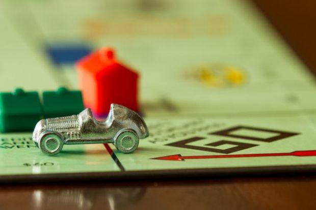Car on monopoly board
