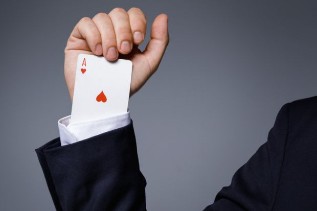 card trick ace up the sleeve