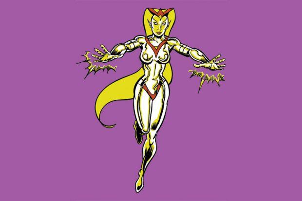 Cartoon female superhero