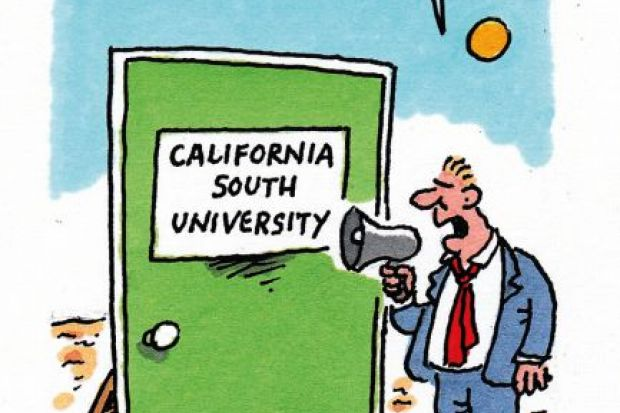 Cartoon on fake university