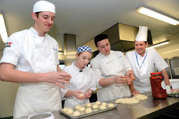 Catering students, Telford College of Arts and Technology
