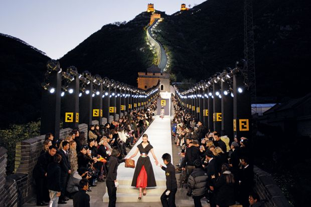 Catwalk on Great Wall of China