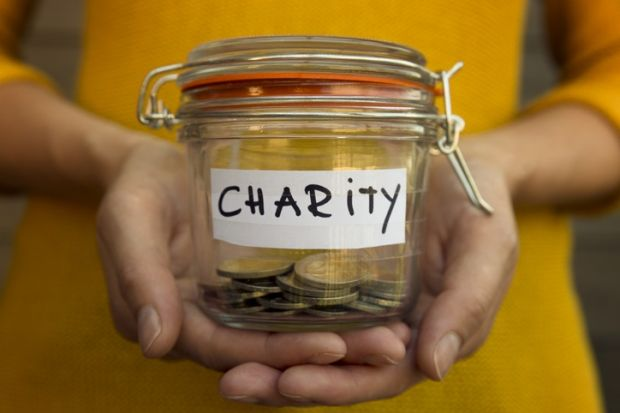a charity jar