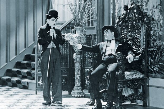 Charlie Chaplin and Harry Myers in City Lights, 1931