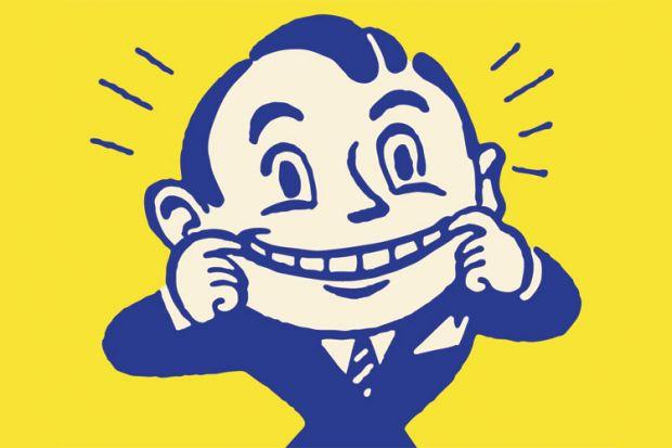 Cheerful smiling man (cartoon)