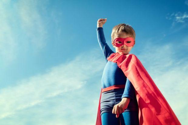 Child in superhero costume