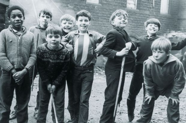 Children playing in the street, Sheffield, 1966