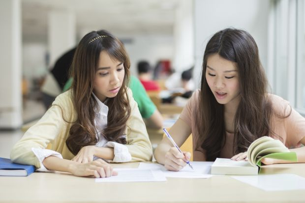 Chinese students at university