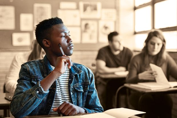 black student in classroom