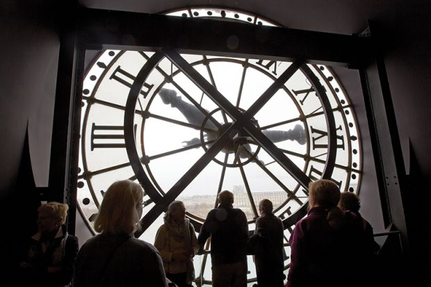 View from clock at Musee d'Orsay