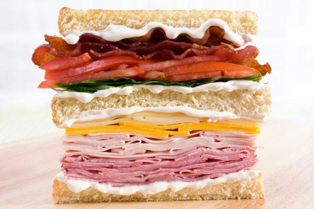 Close-up of club sandwich