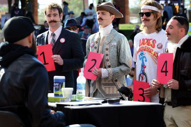 Contestants at National Beard and Moustache Championships, Las Vegas