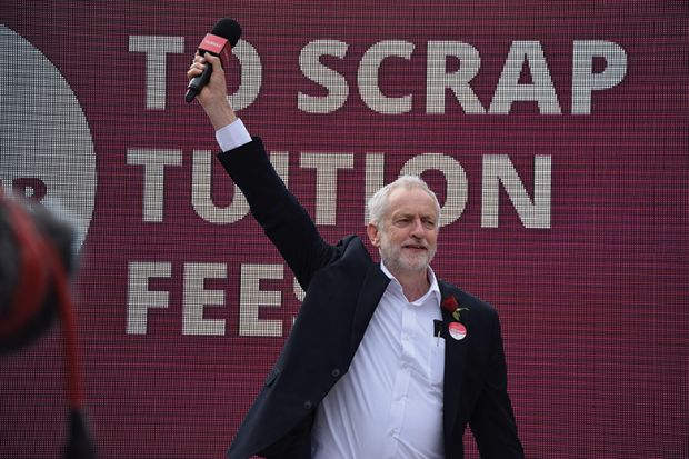 Jeremy Corbyn and tuition fees pledge