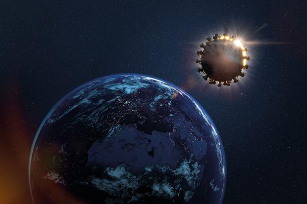 Earth eclipsed by coronavirus