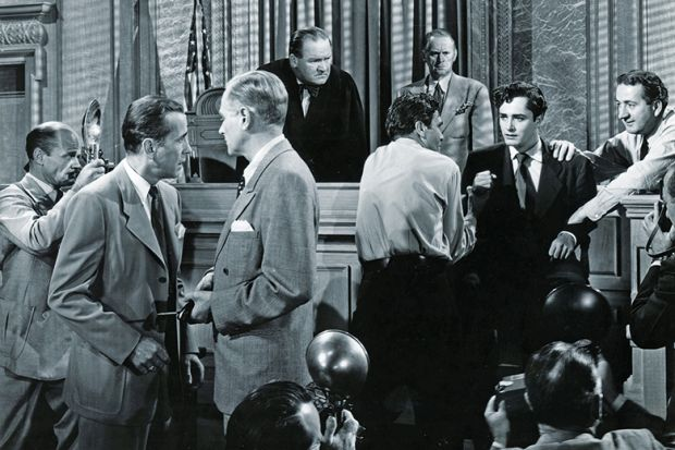 A courtroom scene