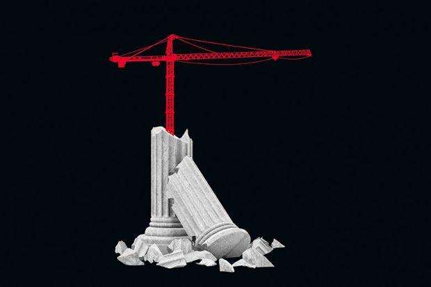 crane and pillar