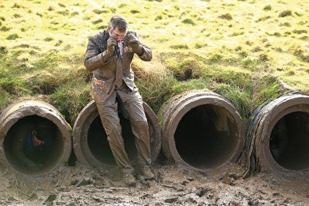 Crawling through mud