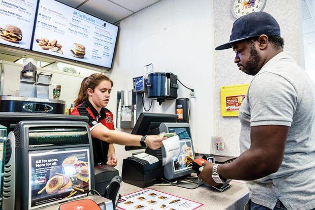 Customer in McDonald's