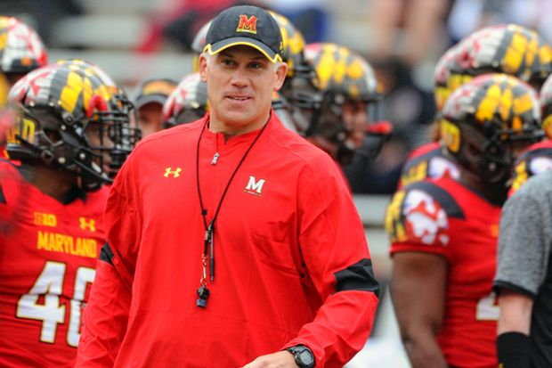 Maryland Terrapins head coach D.J. Durkin
