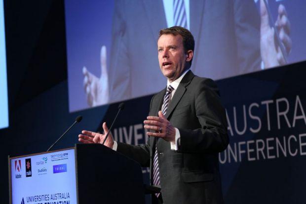 Australian education minister Dan Tehan at Universities Australia conference, Canberra, 28 February 2019