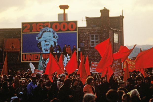 Demonstration against unemployment, Liverpool, England, 1981