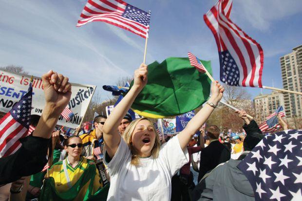 Demonstration, Boston Common, Massachusetts