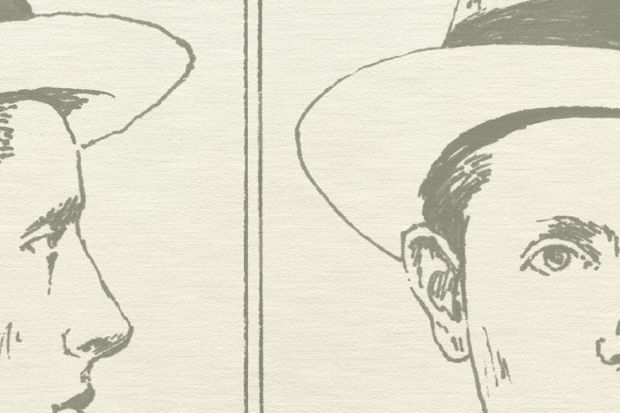 Detail of Netley Lucas mugshot (illustration)