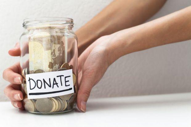 Donation money jar