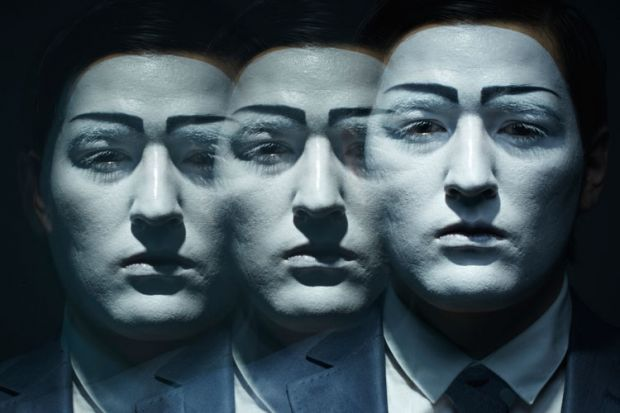 Duplicates of man's face