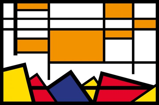 Cover based on Mondrian