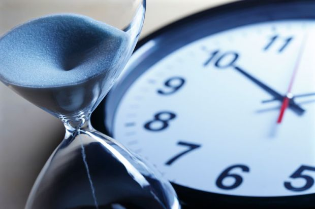 Egg timer and clock showing deadlines