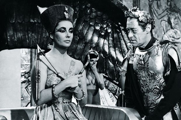 Elizabeth Taylor and Rex Harrison as Cleopatra and Caesar (1963)