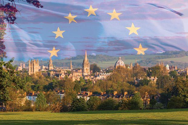 EU flag over Oxford