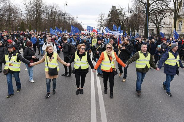 Unite for Europe march in Warsaw