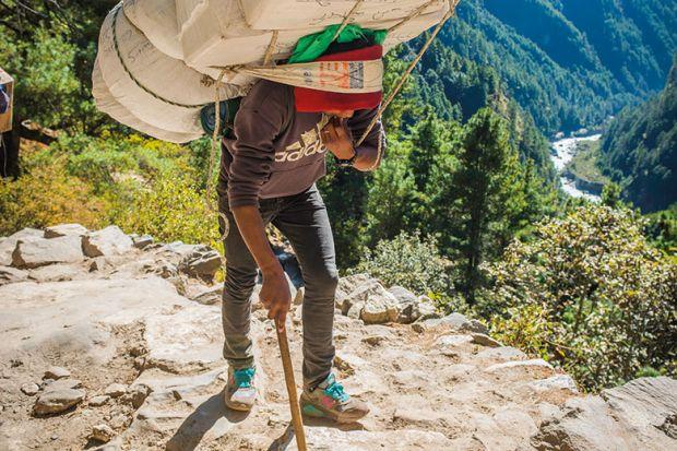 everest hiker