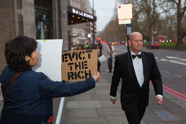 Evict the rich protester