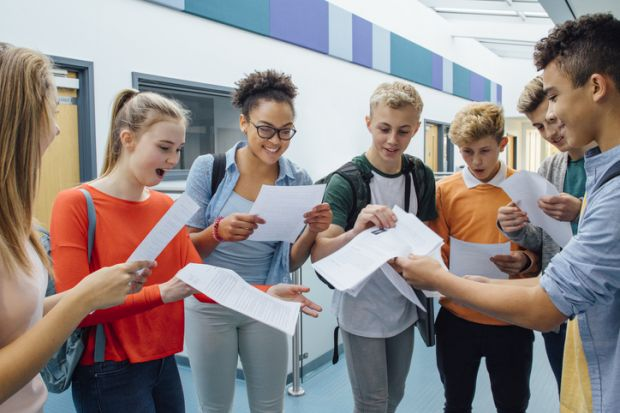 Exam results, illustrating proposed changes to university admissions process in UK