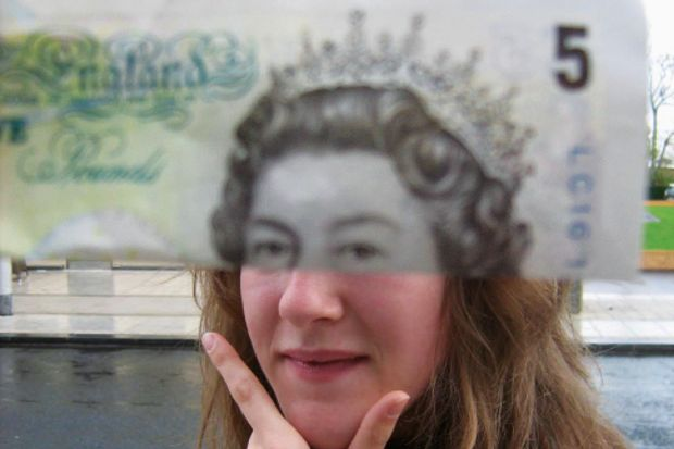 Face on a bank note