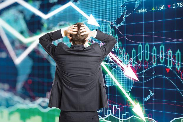 A graph of financial market data