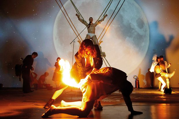 Prometheus' sacrilege of stealing fire from the gods and giving it to humankind is due to his courage and altruism