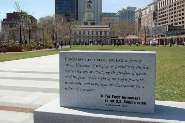 First Amendment and Independence Hall, Philadelphia