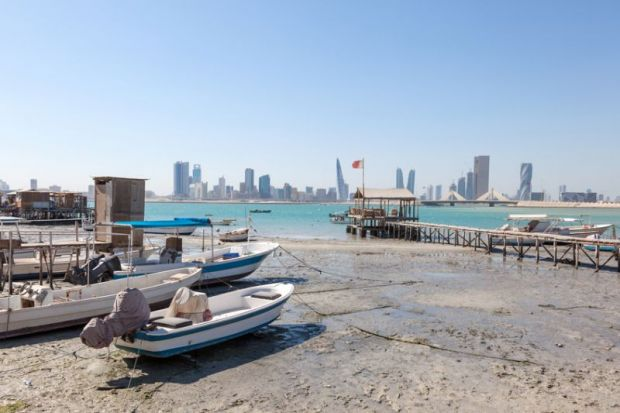 Fishing beach in Bahrain