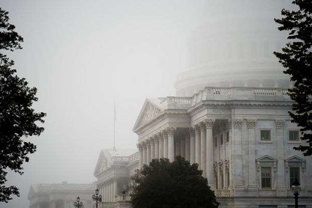 Foggy Capitol Building