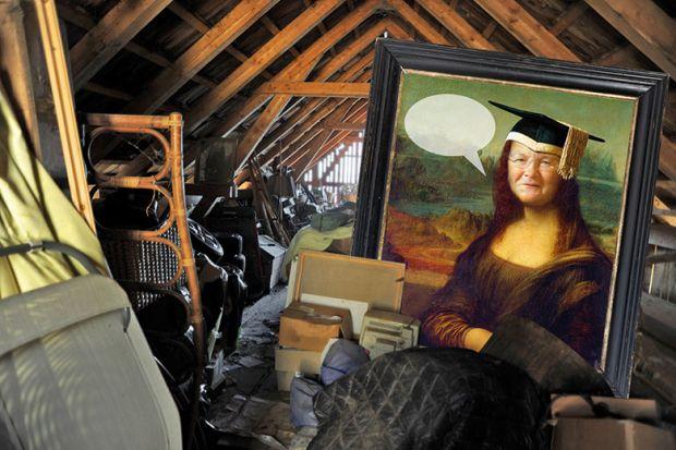 Montage with Mona Lisa