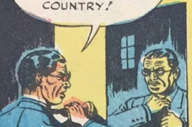 Frame from comic book