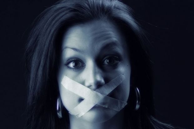 Indian woman gagged