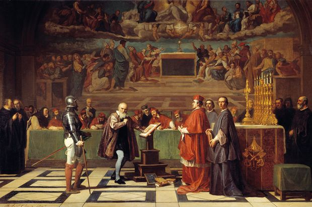 Galileo's work in astronomy and physics brought him into conflict with the Catholic Church
