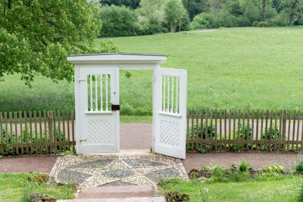 Garden door to Goethe's garden house